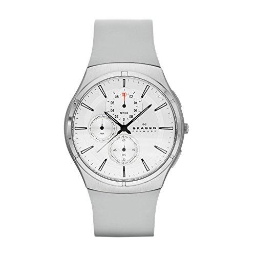 Skagen - SKW6132 - Montre Homme - Quartz Chronographe - Bracelet Silicone Gris