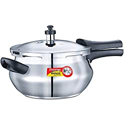 Prestige Deluxe Alpha Outer Lid Stainless Steel Pressure Cooker, 3.3 Litres