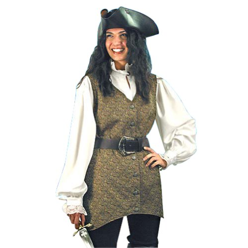 Pirate Clothing for Women - Mary Read Pirate Vest - S/M - Halloween Costume