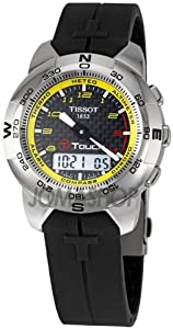Tissot Men's TIST33789894 T Touch Tactile Black Dial Watch