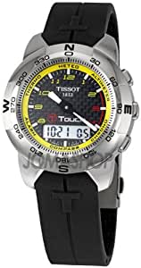 Tissot Men's TIST33789894 T Touch Tactile Black Dial Watch