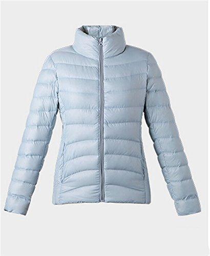 Moda selvaggia Luce Down Jacket femminile Solid Slim di colore Stand Up Collar Piumini abbigliamento invernale rivestimento del cappotto caldo ( dimensioni : S. )