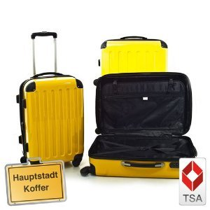 3er Kofferset Hartschale Trolley gelb-Hochglanz