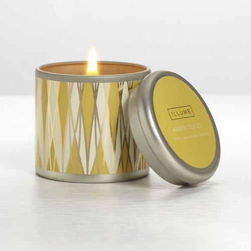 Illume Amber Dunes Essential Mini Travel Tin Candle