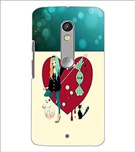 PrintDhaba Smart Girl D-1191 Back Case Cover for MOTOROLA MOTO X PLAY (Multi-Coloured)