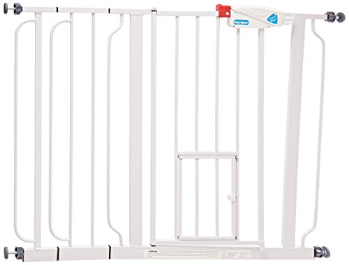 Carlson Extra Wide Walk Through Gate with Pet Door, 29 to 44-Inch (Top Paw Dog House compare prices)