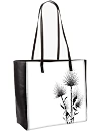 Simple Text White Obo, Shoulder Bag Tote Faux Leather Handbag Satchel Tote