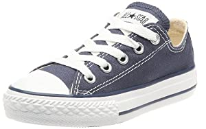 Converse Chuck Taylor All Star Core Ox - Zapatillas de lona infantiles, color azul, talla 34