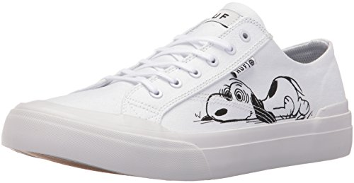 HUF Men's Classic Lo Peanuts Skateboarding Shoe, White/Black, 11 M US