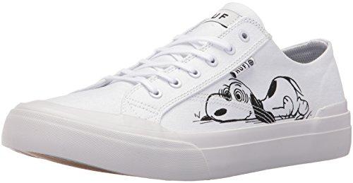 HUF Men's Classic Lo Peanuts Skateboarding Shoe, White/Black, 10.5 M US