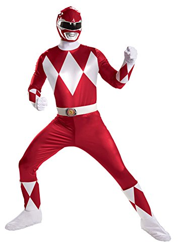 Red Ranger Super Deluxe Adult Costume Halloween Costume