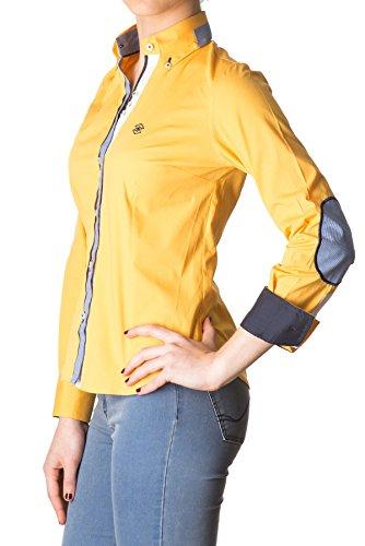 di-prego-camicia-gialla-manica-lunga-con-toppe-sui-gomiti-e-collo-welt-polsini-blu-marino-reversibil