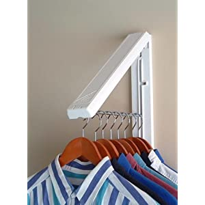 Click to buy Laundry Room Organizer: Wall Mounted Collapsible Hanger from Amazon!