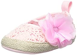ABG Baby Crochet Esapdrille with Flower (Infant), Light Pink, 3-6 Months M US Infant