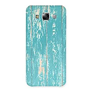 Blue Coffee Texture Back Case Cover for Samsung Galaxy E5