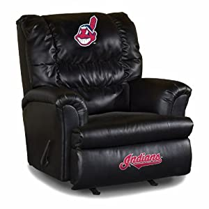 MLB Cleveland Indians Big Daddy Leather Recliner by Imperial