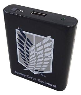 バンダイ 進撃の巨人 USB出力電池式充電器 ブラック SK-04B
