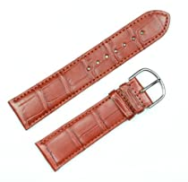Genuine Alligator Watchband Saddle 16mm Watch band by deBeer