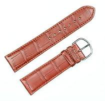 Genuine Alligator Watchband Saddle 22mm Watch band by deBeer