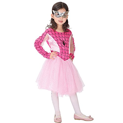YiZYiF-Spider-Girl-Deluxe-Cos-Costume-Kids-Child-Tutu-Dress-with-Mask