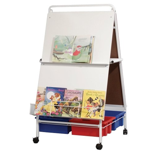 BALT Folding Baby Wheasel Easel with Tubs, Melamine, 30-1/2wx55-1/2hx34d, WE