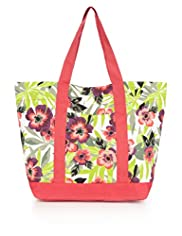 Pure Cotton Floral Shopper Bag