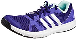 adidas Womens ESSENTIAL STAR II Purple and White Mesh Running Shoes - 4 UK