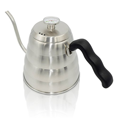 Apace Living Pour Over Coffee Kettle with Tea Scoop and Table Coaster - Stainless Steel Gooseneck Drip Kettle w/ Built in Thermometer (1.2L / 40oz) (Antique Tea Kettle Whistle compare prices)