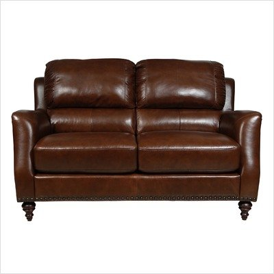 Buy Low Price Luke Leather Bradford Italian Leather Loveseat (BRADFORD-L)