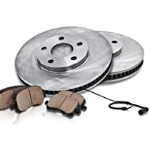 08-09 Pontiac G8 6.0L GT V8 Front Brake Disc Rotors /& Ceramic Brake Pads Pads