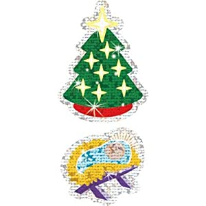 Christmas Symbols Sparkle Stickers - Large