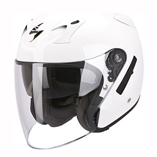 Motorcycle Scorpion Exo-220 Helmet White XL UK