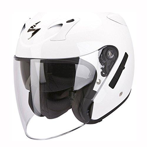 Motorcycle Scorpion Exo-220 Helmet White XL UK