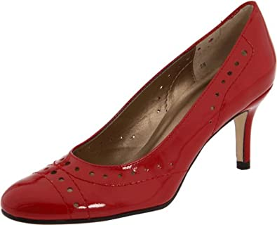 Vigotti Women's Ursulina Pump,Red Smack Metallic Patent,8.5 W US