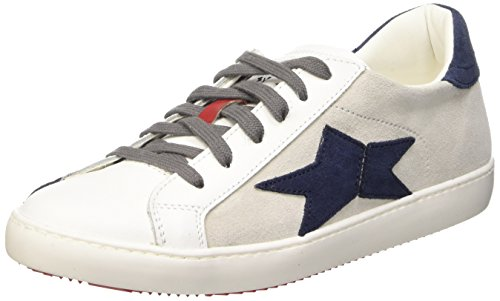 Fake By Chiodo Low 029 Scarpe Low-Top, Unisex adulto, Bianco (Velour White/Velour Indaco), 39