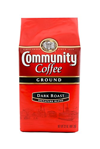 Community Coffee Premium Ground Coffee, Signature Dark Roast, 32 oz., 2 Count
