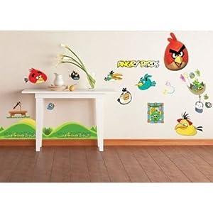 angry birds ii wall stickers childrens kids nursery boy girl bedroom