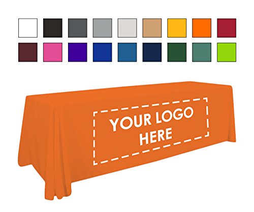 Personalized Add Your Own Logo Custom Tablecloth 6' Orange Table Cover - Table Throw (Custom Table Cloths compare prices)