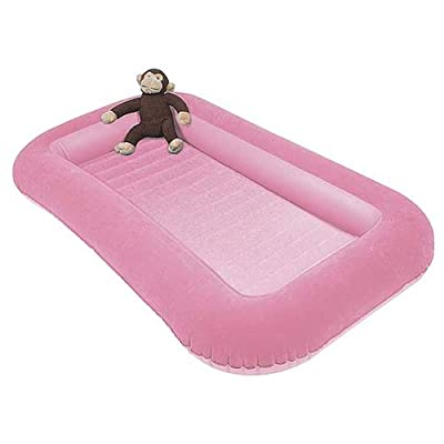 Kampa Airlock Junior Camp Air Bed with Side Cushions Candyfloss Pink