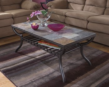 Contemporary Black Cocktail Table (Slate Coffee compare prices)