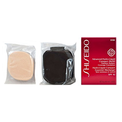 Shiseido - Fondotinta compatto Advanced Hydro-Liquid, ricarica, n° B100 Very Deep Beige, 1 pz. (1 x 12 ml)