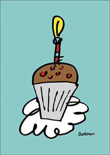 Verschicken Sie statt Kuchen diese Geburtstags Muffin Klappkarte • auch zum direkt Versenden mit ihrem persönlichen Text als Einleger.