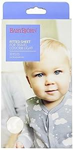 BABYBJORN Fitted Sheet for Travel Crib Light - Organic White from BabyBjorn Kids Strollers