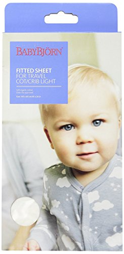 Best Review Of BABYBJORN Fitted Sheet for Travel Crib Light - Organic White