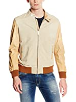 7 For All Mankind Cazadora Piel Baseball (Beige)