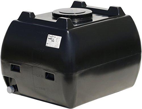 ホームローリー 500L 黒色 (雨水タンク) 貯水槽・貯水タンク スイコー