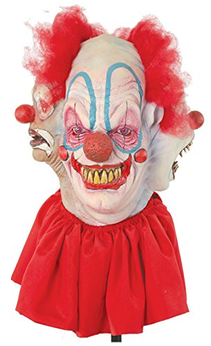 Clowning Around Insane Evil Clown Scary Latex Adult Halloween Costume Mask
