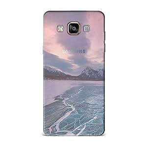 Samsung A7 [Transparent Hard Plastic Cover] Printed Design - Nature Frozen Sea Level Case