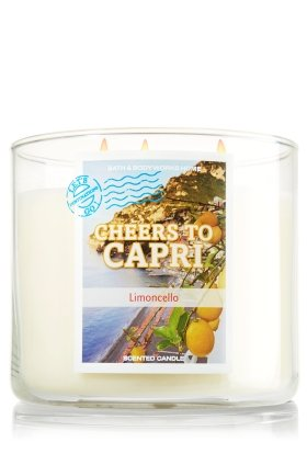 Bath & Body Works Limoncello Cheers à Capri 14,5 oz 3 mèches Bougie parfumée