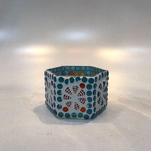 Dlite Crafts Multicolor Polka Design Home Decorative Votive Candle Holder, Set Of 2 PCs - B06XYLGRST